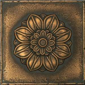 Signatures Rosette Pointed 6 x 6 Decorative Tile in Aged Bronze