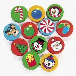Holiday Disk Erasers   Basic School Supplies & Erasers & Pencil