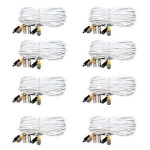 100ft Feet Video Power Cable BNC RCA Connector Extension Wire Cord