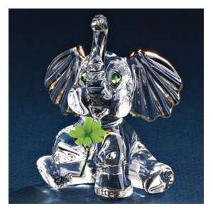 Good Luck Elephant Glass Figurine Jewelry
