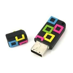8GB Small Square USB Flash Drives Disk (Black) Electronics