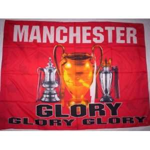 MANCHESTER UNITED 5x3 Feet Cloth Textile Fabric Poster
