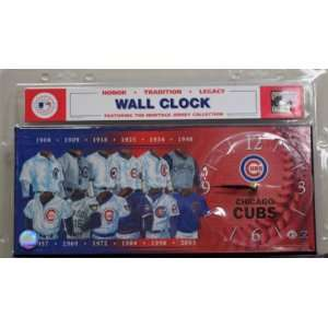 Chicago Cubs MLB Uniform Evolution Jersey Clock