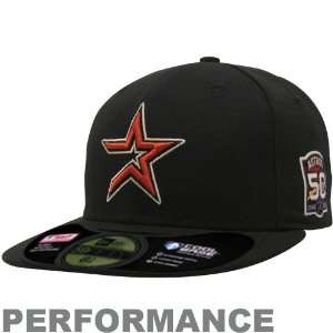 New Era Houston Astros Black On Field Authentic 59FIFTY Performance