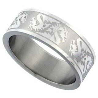 Steel Tribal Chinese Zodiac Dragon Mens Ring 8 [Jewelry] Jewelry