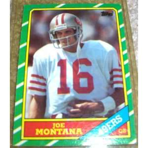 1986 Topps Joe Montana #156 NFL Football Trading Card