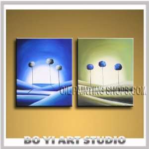 ENCHANTING MODERN ABSTRACT OIL PAINTING WALL ART LANDSCAPE TREE