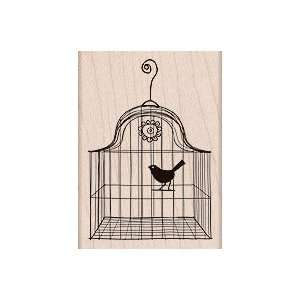 Bird in a Cage Wood Mounted Stamp (Hero Arts) Arts