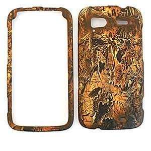 HTC SENSATION Brown leaves CAMO CAMOUFLAGE HUNTER HARD PROTECTOR COVER