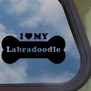 Love My Labradoodle Black Decal Truck Window Sticker