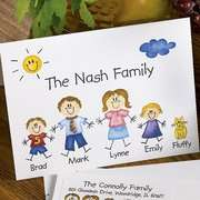 Envelopes Personalized Family of Characters Note Cards and Envelopes