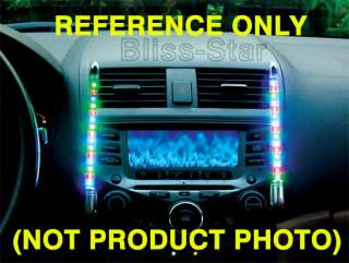 BLUE LED Tube Sound Activate Car Interior Light kit 33