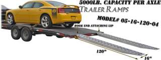 10 5000 lb ALUMINUM TRUCK CAR TRAILER RAMPS HOOK ENDS (05 16 120 04