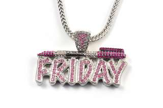 NICKI MINAJs Barbie Pink Friday Charm Pendant w/ Franco Chain SM
