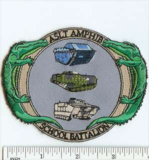 USMC Marines Assault Amphibian School Battalion PATCH  AA School Bn
