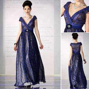 Printing Chiffon Long Formal Party Evening Gowns Dress