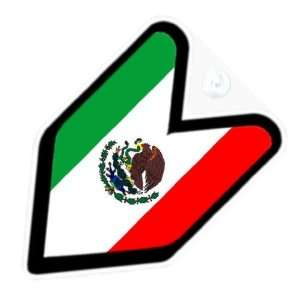 JDM Mexico Mexican Flag Car Decal Badge Automotive