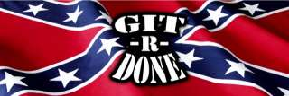 GIT R DONE Rear Window Graphic Tint Vinyl Decal